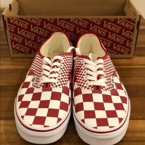 Vans authentic chili pepper red checkerboard mix